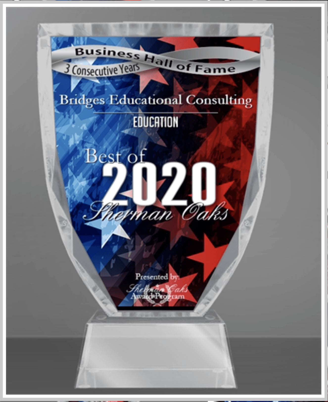 Bridges Educational Consulting Receives 2020 Best of Sherman Oaks Award